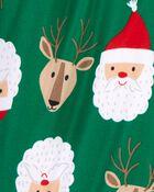 2-Piece Santa Coat-Style Fleece PJs, , hi-res