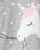 Unicorn 2-Way Zip Cotton Sleep & Play, , hi-res