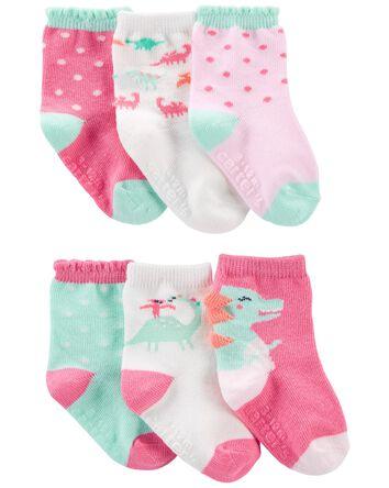 6 paires de chaussettes à dinosaure