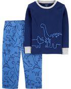 2-Piece Dinosaur 100% Snug Fit Cotton & Fleece PJs, , hi-res