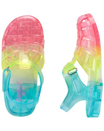 Rainbow Jelly Sandals