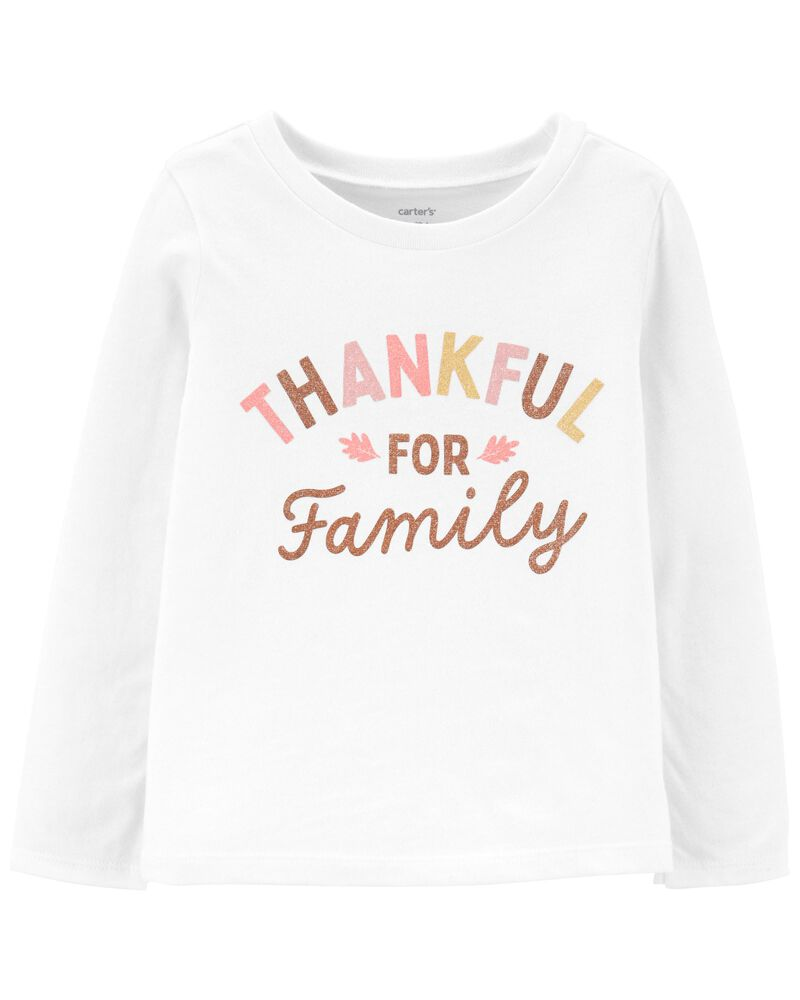 T-shirt en jersey Thankful For Family , , hi-res