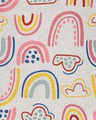 Pyjamas 4 pièces en coton ajusté à arc-en-ciel , , hi-res
