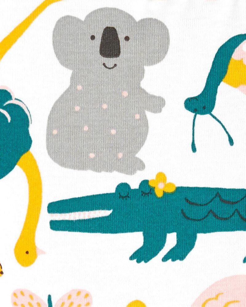 Pyjama 1 pièce sans pieds en coton ajusté motif animaux, , hi-res