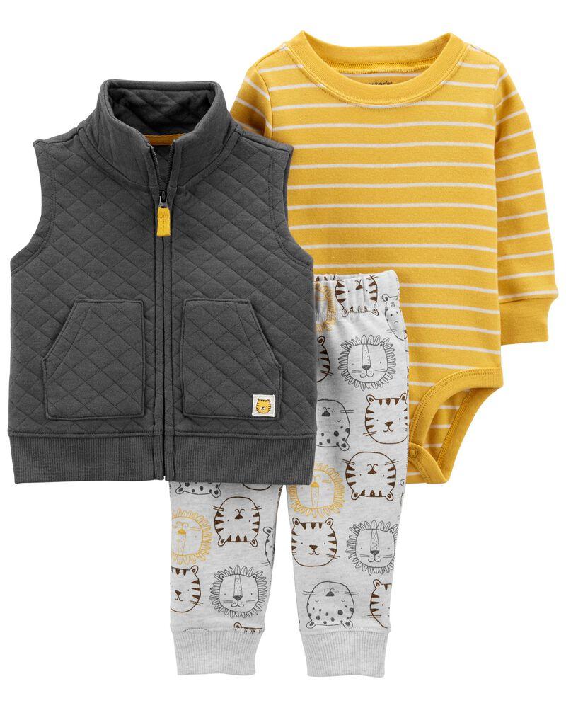 3-Piece Lion Little Vest Set, , hi-res