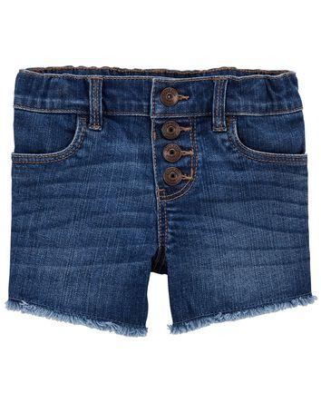 Stretch Denim Shorts in Blue Sky Wa...
