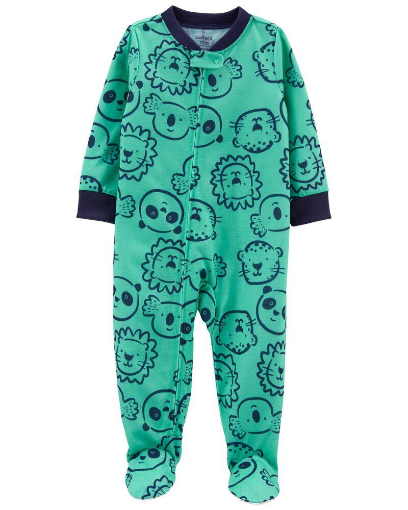Pyjama 1 pièce de coupe ample à pieds Zoo, , hi-res