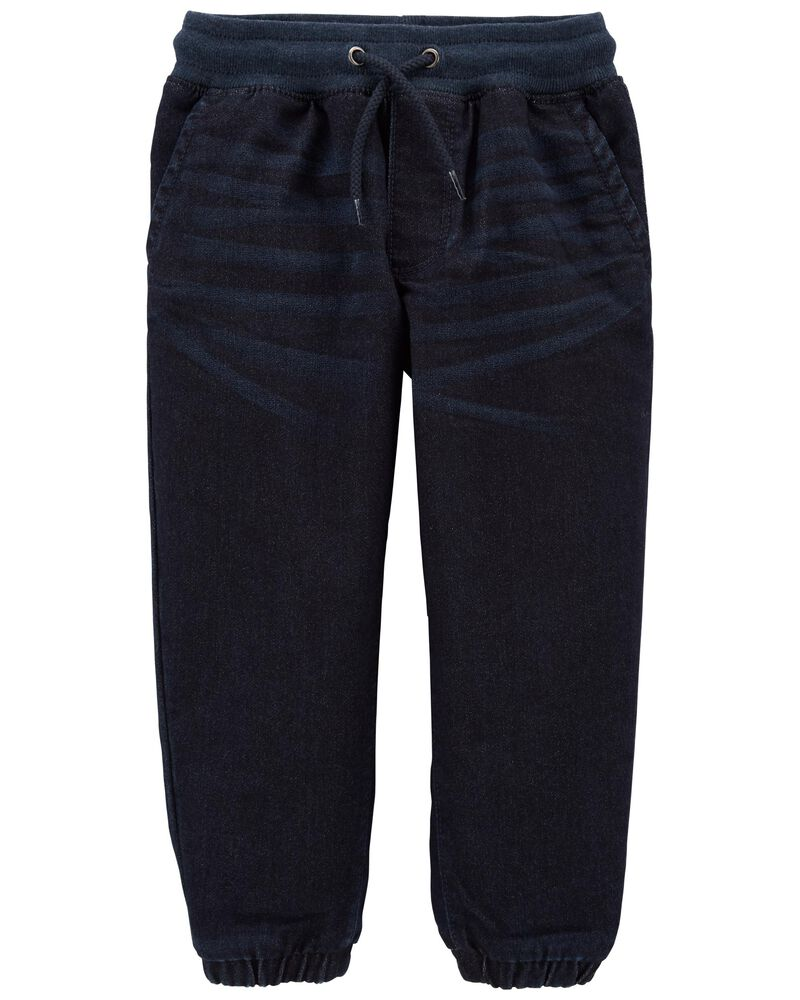 Pantalon de jogging en tricot de denim , , hi-res
