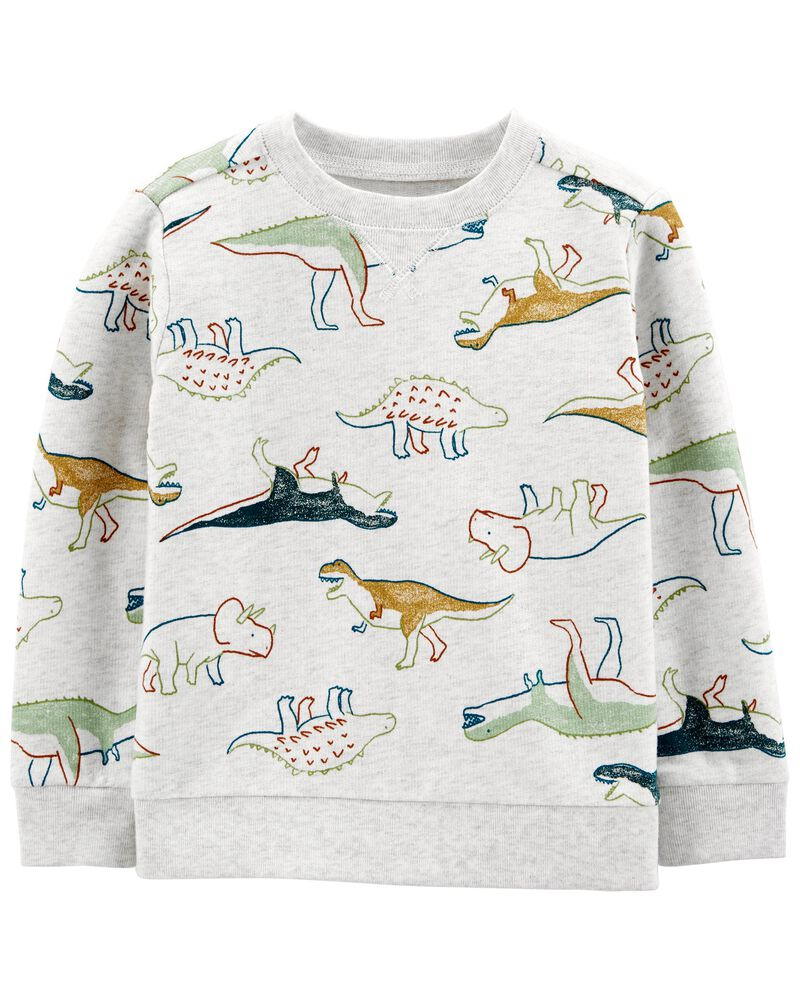 Chandail en jersey bouclette à dinosaure, , hi-res