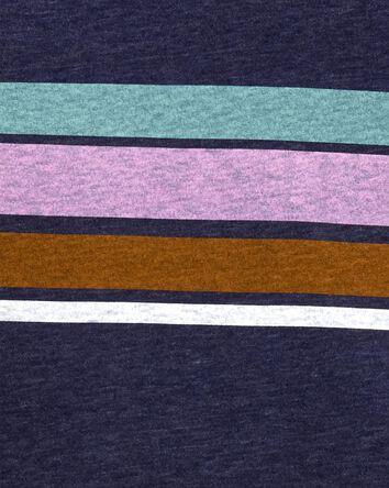 T-shirt rayé en fils chinés