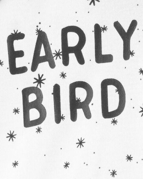 Grenouillère pour dormir et jouer en coton à boutons-pression en biais Early Bird