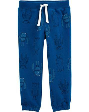 Robot Pull-On Fleece Pants