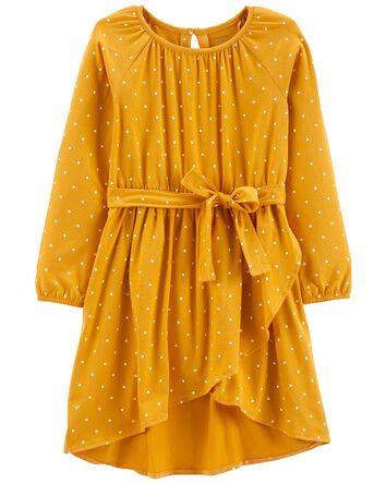 Polka Dot Tie-Waist Dress