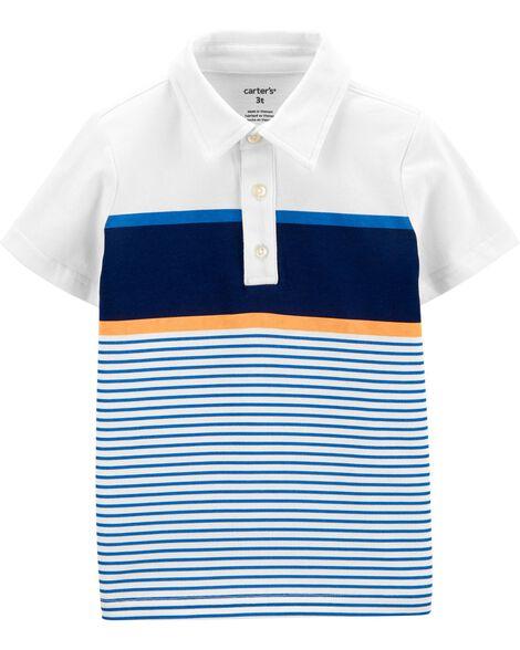 Polo à couleurs contrastantes