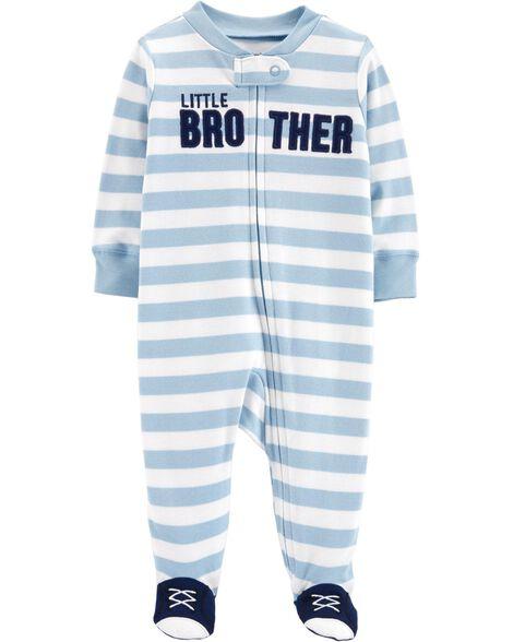 Little Brother Zip-Up Cotton Sleep & Play