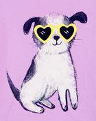 T-shirt en jersey à chien, , hi-res