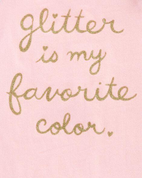 Haut à manches en tulle Glitter