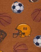 4-Piece Football 100% Snug Fit Cotton PJs, , hi-res