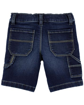 Short de charpentier en denim exten...