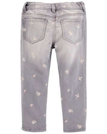 Pigment-Dye Floral Jeggings