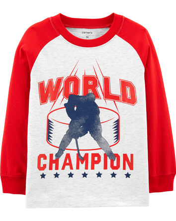 T-shirt raglan hockey