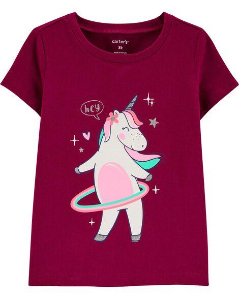 Hula Hoop Unicorn Jersey Tee