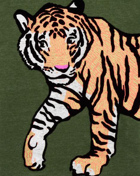 T-shirt en jersey chiné tigre