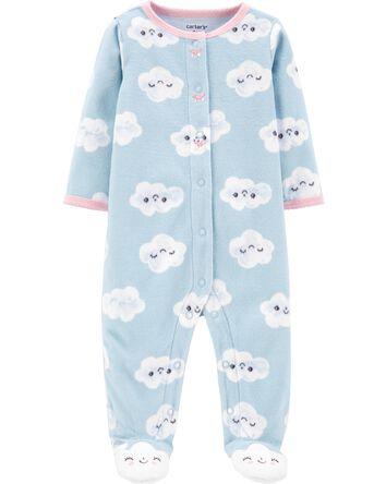 Clouds Snap-Up Fleece Sleep & Play