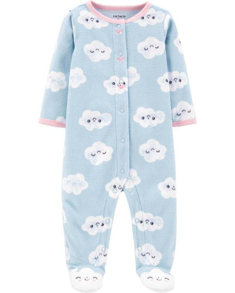 Clouds Snap-Up Fleece Sleep & Play, , hi-res