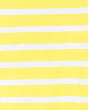 Striped Tie-Front Jersey Tee