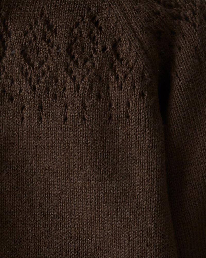 Combinaison à capuchon en tricot biologique, , hi-res