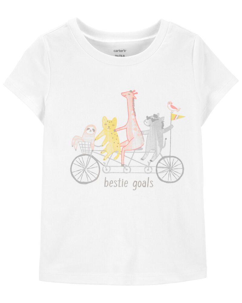 T-shirt en jersey Bestie Goals , , hi-res