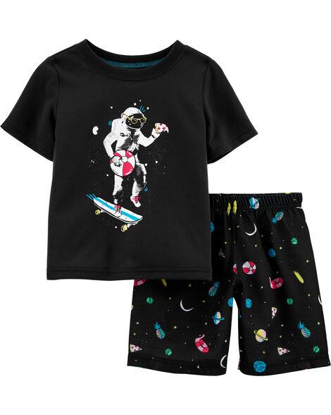 Pyjama à astronaute qui brille dans le noir