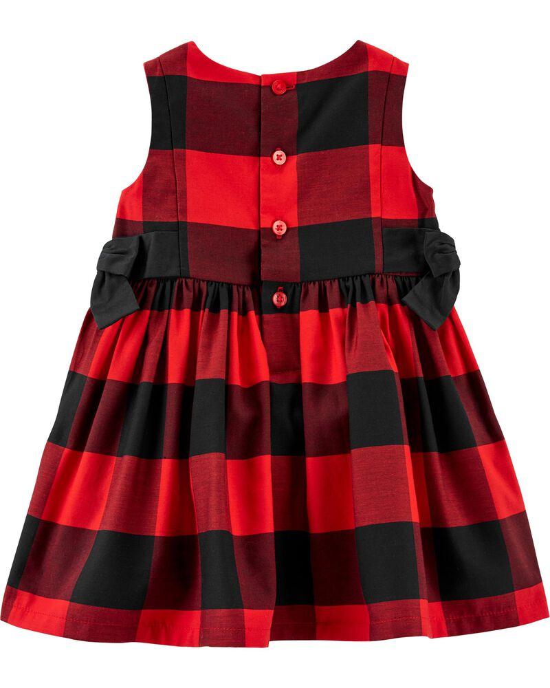Buffalo Check Sateen Dress, , hi-res