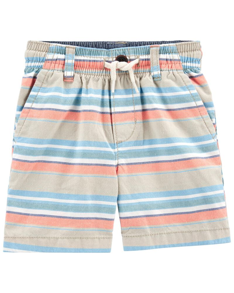 Striped Pull-on Shorts, , hi-res