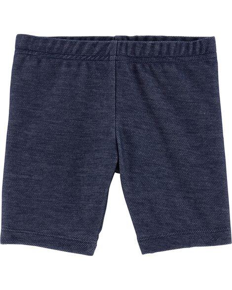 Short extensible en tricot de denim