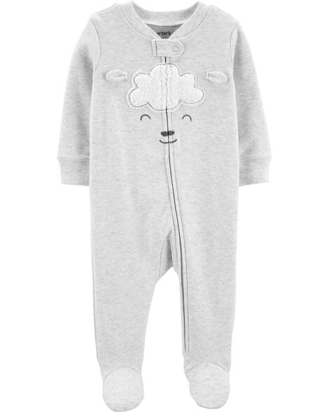 Lamb Zip-Up Cotton Sleep & Play