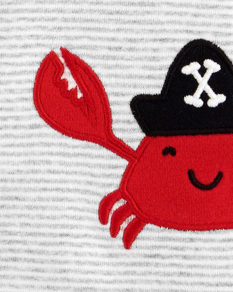 Barboteuse à boutons-pression avec crabe