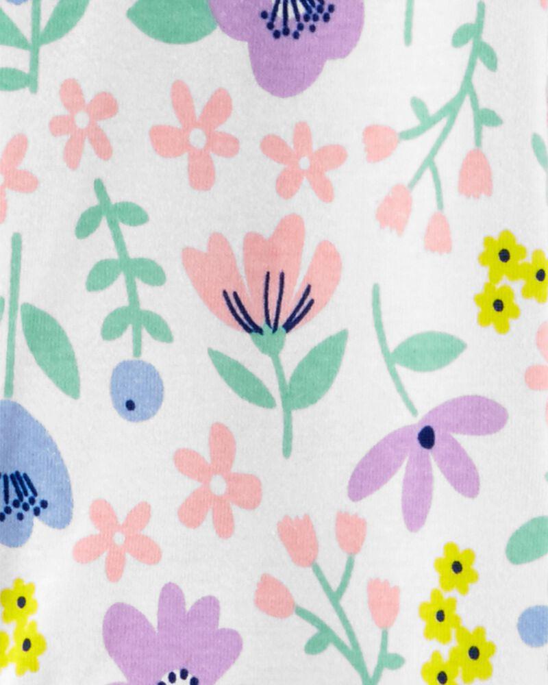 1-Piece Floral Snug Fit Cotton Footie PJs, , hi-res