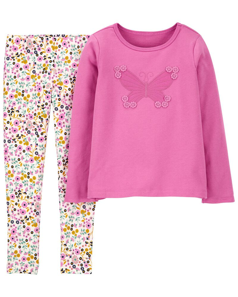 2-Piece Butterfly Top & Legging Set, , hi-res