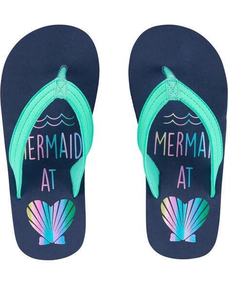 Mermaid Seashell Flip Flops