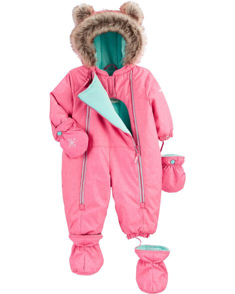 1-Piece Fleece-Lined Infant Snowsuit