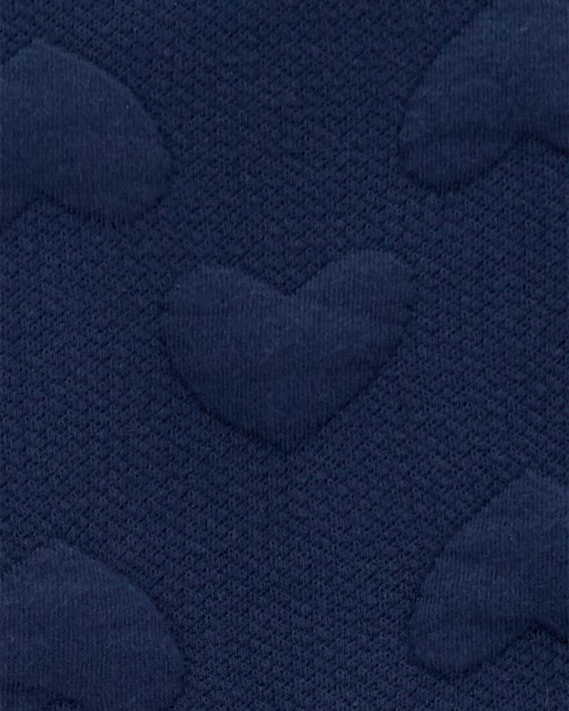 Robe douillette à cœurs et motif jacquard, , hi-res