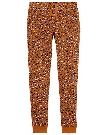 Pantalon de jogging à léopard