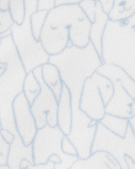 Dog Print Fleece Sleep Bag