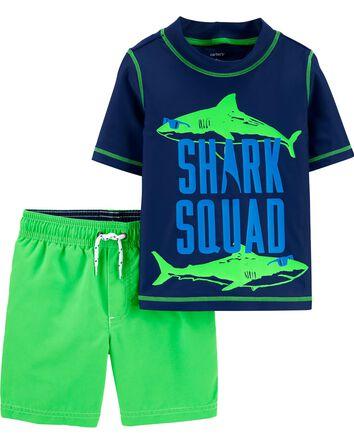 2-Piece Shark Rashguard Set