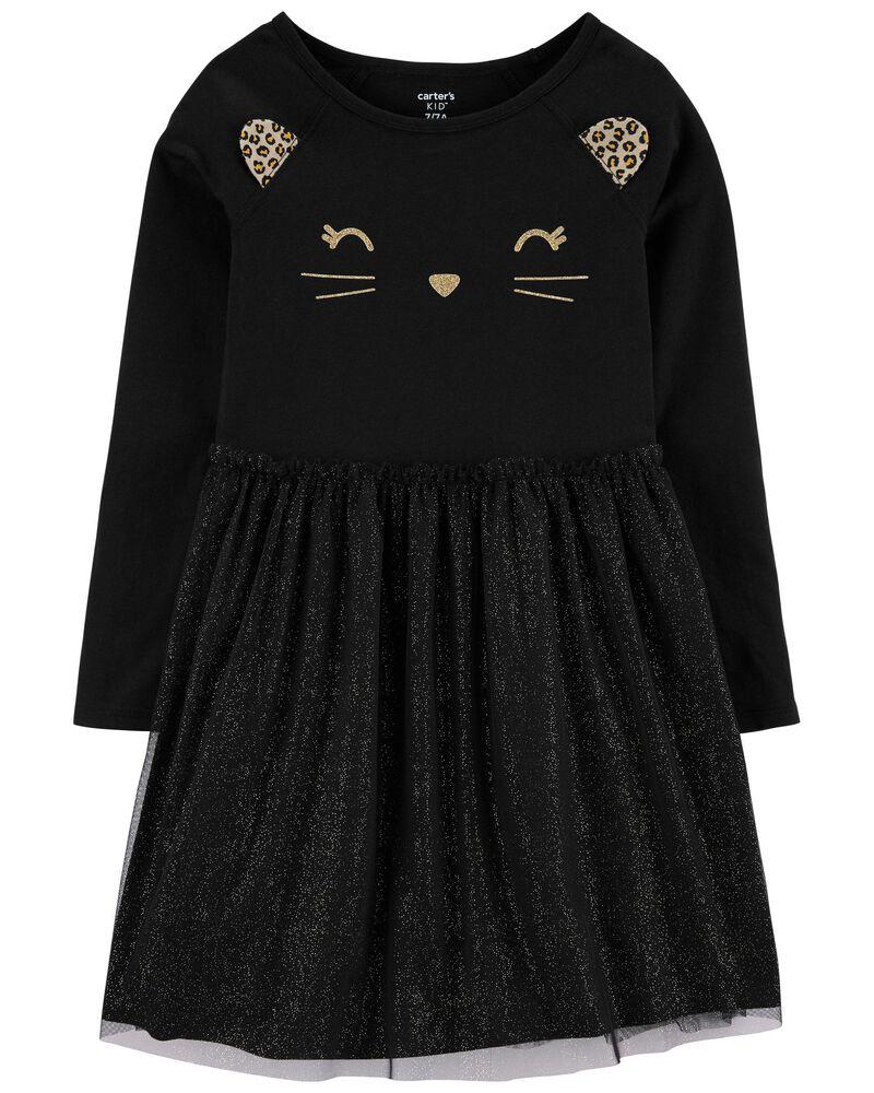 Halloween Cat Tutu Jersey Dress, , hi-res