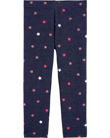 Legging en tricot de denim à étoile