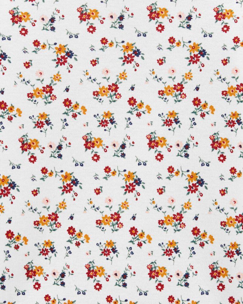 2-Piece Floral Tee & Jumper Set, , hi-res