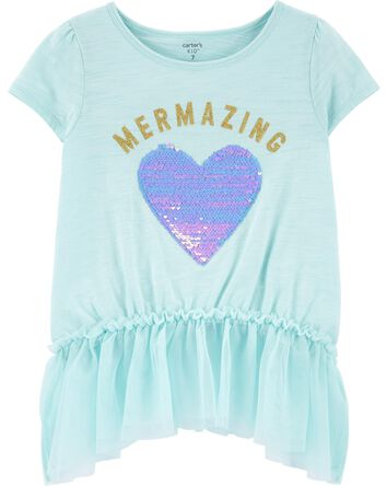 Mermazing Peplum Top